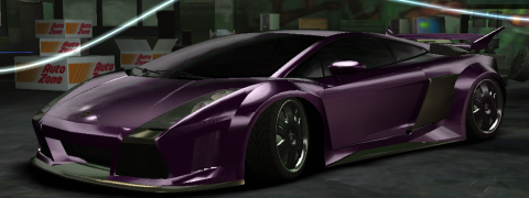 Group Of Dark Purple Lamborghini Murcielago